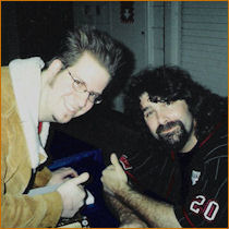 Joey with Mick Foley